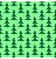 Christmas trees seamless pattern vector image vector image