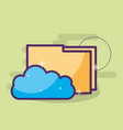 cloud computing storage hosting folder files vector image vector image
