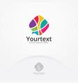 colorful talk logo vector image