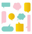 Cute colorful speech bubbles set