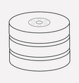 database icon line element of vector image vector image