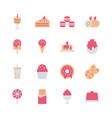 dessert icon set in flat design vector image vector image