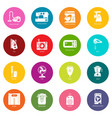 domestic appliances icons set colorful circles vector image vector image