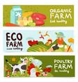 farm horizontal banners vector image