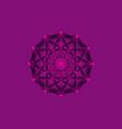 flower life symbol sacred geometry pink logo vector image vector image