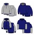 Four hoodies vector image