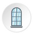 gray arched window icon circle vector image vector image