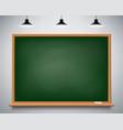 green chalkboard on the wall vector image vector image