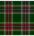 Green red check tartan textile seamless pattern vector image