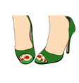 Green Shoes vector image