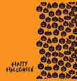 halloween funny horror pumpkin greeting card vector image vector image