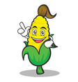 have an idea sweet corn character cartoon vector image vector image