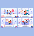 healthy relationships in pregnancy banners vector image vector image