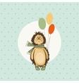 hedgehog birthday greeting vector image