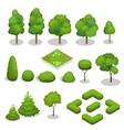 Isometric trees elements for landscape vector image vector image