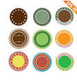 Label stitch sticker tag - - EPS10 vector image