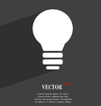 Light lamp Idea icon symbol Flat modern web design vector image vector image