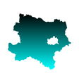Map of Lower Austria vector image vector image