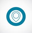 map pin icon bold blue circle border vector image