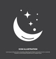 moon night star weather space icon glyph symbol vector image vector image
