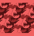 piranha seamless pattern marine predator fish vector image