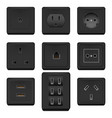 realistic detailed 3d blank socket and switch vector image vector image