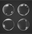 realistic white air bubbles with reflection vector image