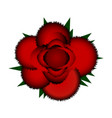 red rose icon vector image vector image
