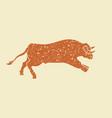 running bull - vector image
