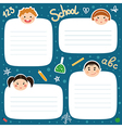 School tags vector image