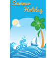 sea travel template vector image