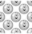 Seamless background pattern of cartoon golf balls vector image