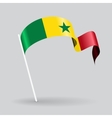 Senegalese wavy flag vector image vector image