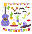 set of carnaval fiesta vector image