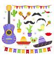 set of carnaval fiesta vector image vector image