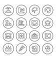 set round line icons of mining vector image vector image