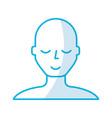 shadow blue bald man vector image vector image