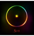 Shining neon light Sun astrological symbol vector image