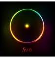 Shining neon light Sun astrological symbol vector image