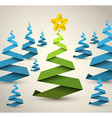 Simple paper christmas trees vector image vector image