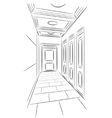 Sketch of hall vector image