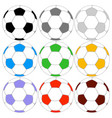 soccer ball icon colored set vector image