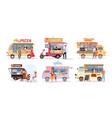 street market food truck outdoor cafe vector image vector image