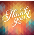 THANK YOU hand lettering - custom handmade vector image vector image