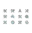 tools icon set industry building repair symbol vector image