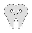 tooth dental symbol cartoon smiling vector image vector image