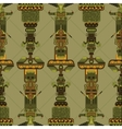 totem poles seamless pattern vector image vector image
