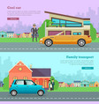 transport cool cabriolet family transportation vector image