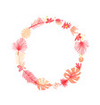 tropical flower botanical round wreath vector image