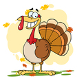 Turkey Cartoon Character vector image vector image